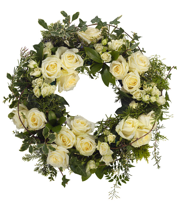 Rose And Jasmine Wreath Butterfly Flowers